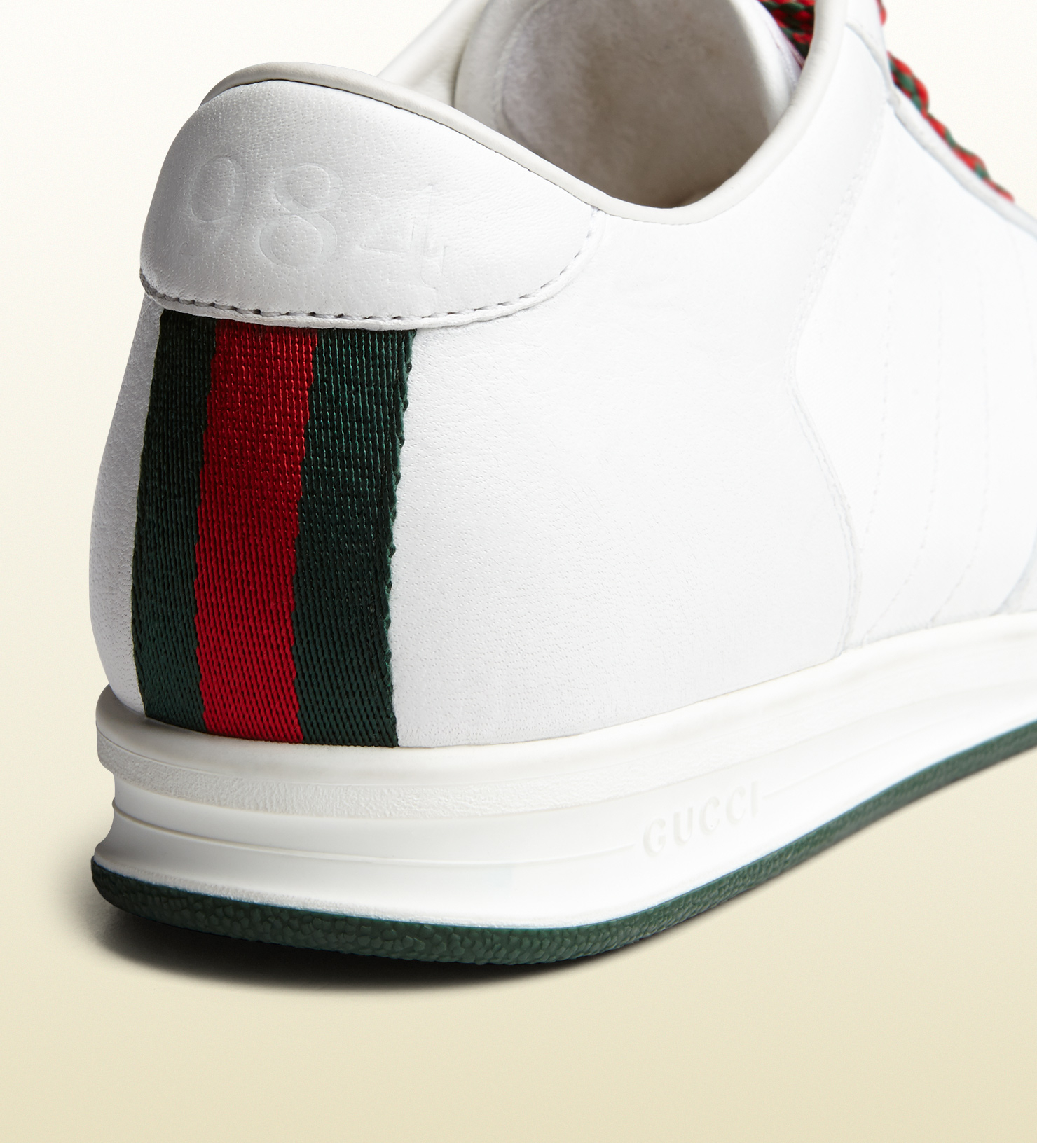 gucci 1984 low top sneaker in leather in white for men lyst