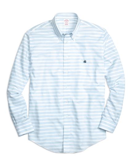 Brooks brothers non iron madison fit horizontal stripe Brooks brothers shirt size guide