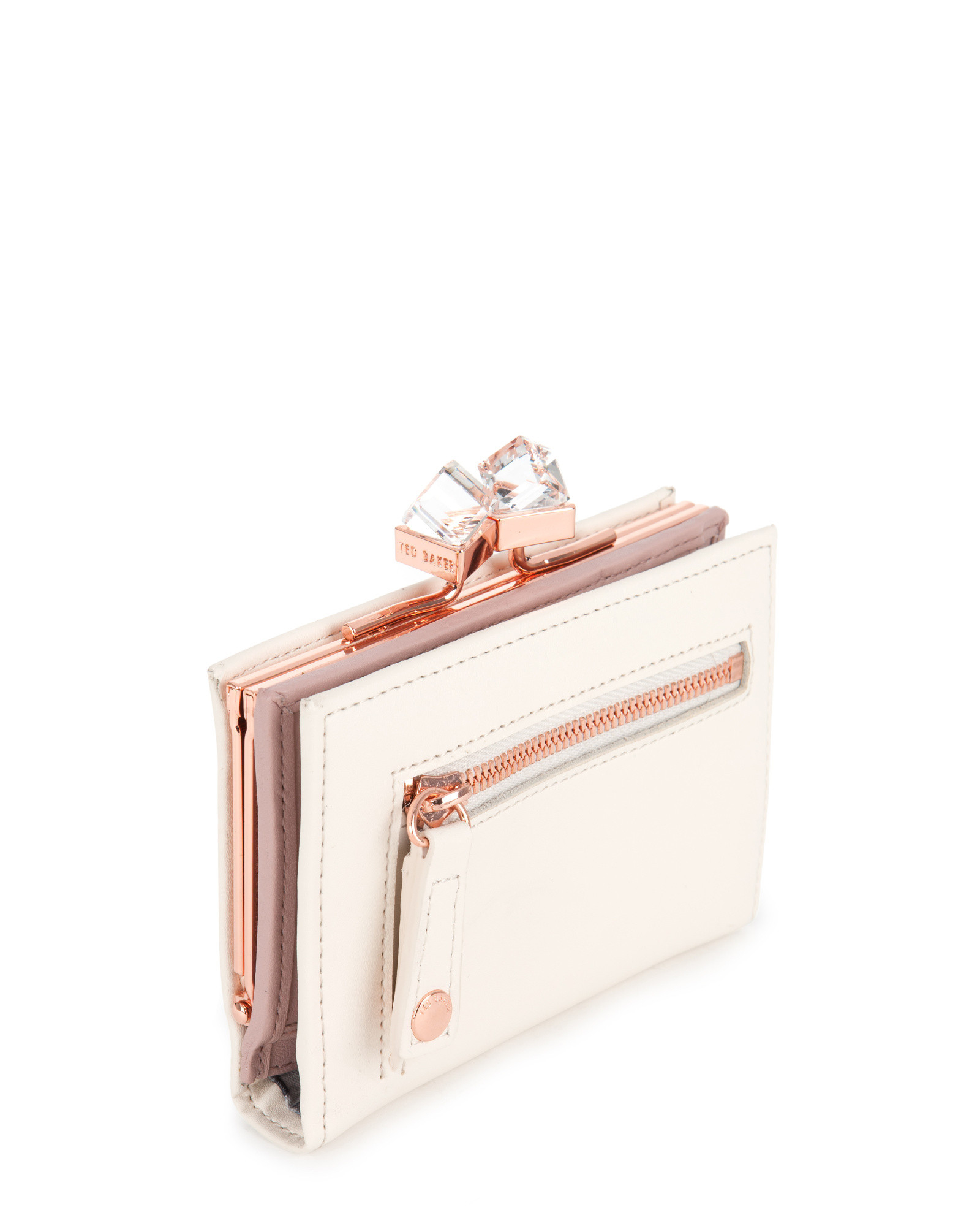 27efa8f229ac0c Lyst Ted Baker Small Square Crystal Purse In Natural. Ted Baker Crystal  Purse Best Image Ccdbb