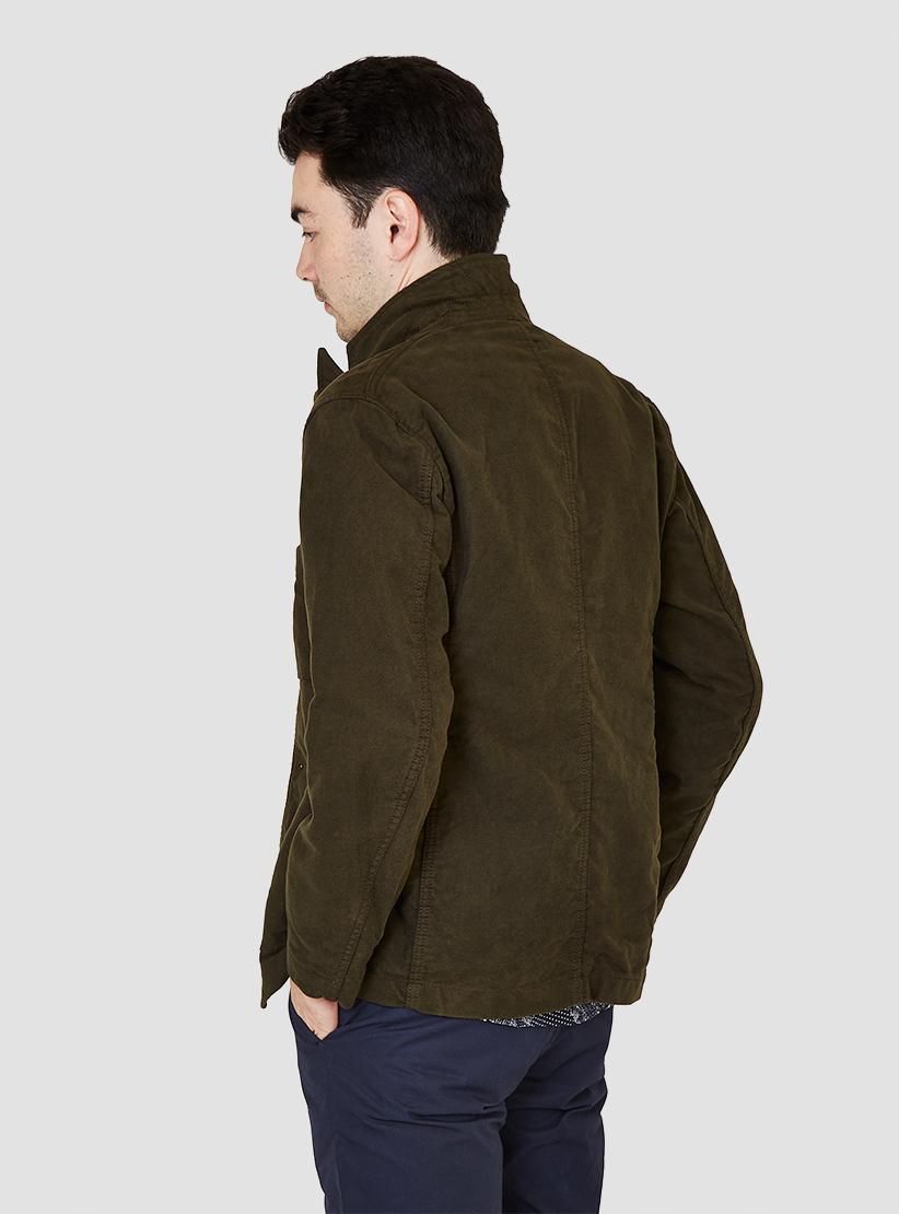 Engineered garments Bedford Jacket Olive Moleskin in Green ...