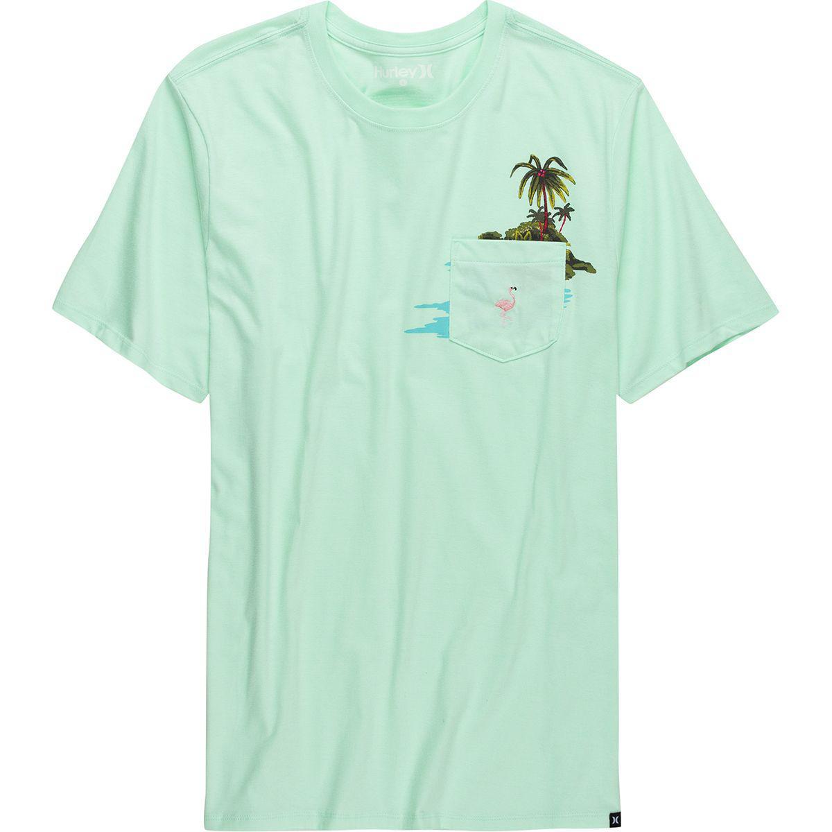 b91c1e9bc9b1d0 Lyst - Hurley Premium Flamingo Pocket Short-sleeve T-shirt in Blue ...