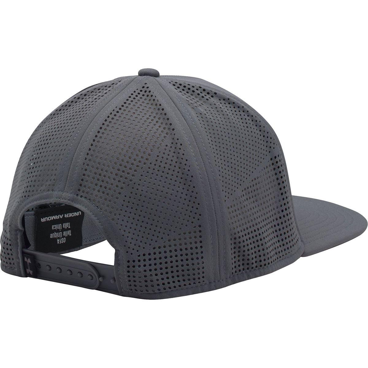 fe4a36c68f6 ... best price lyst under armour supervent flat brim snapback hat in black  for men e95cd 960fa