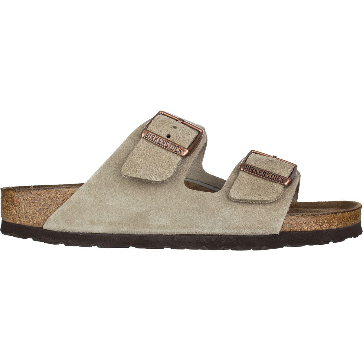 7ea1c960b234 Lyst - Birkenstock Arizona Soft Footbed Suede Narrow Sandal in Brown