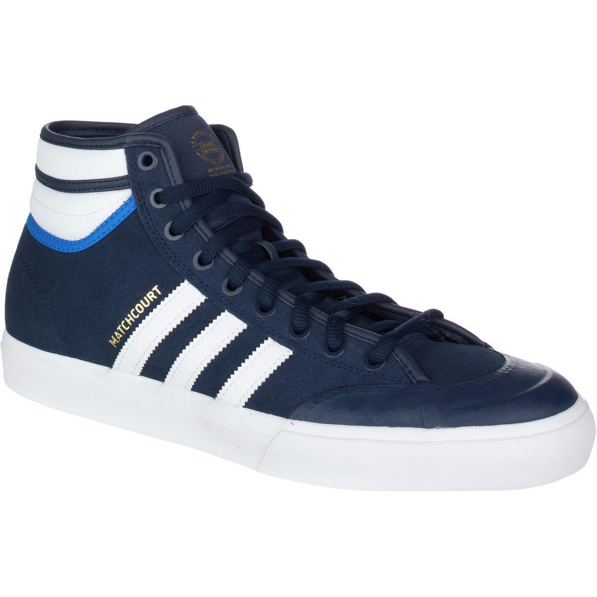 lyst adidas matchcourt alto rx2 top ten scarpa blu per gli uomini.
