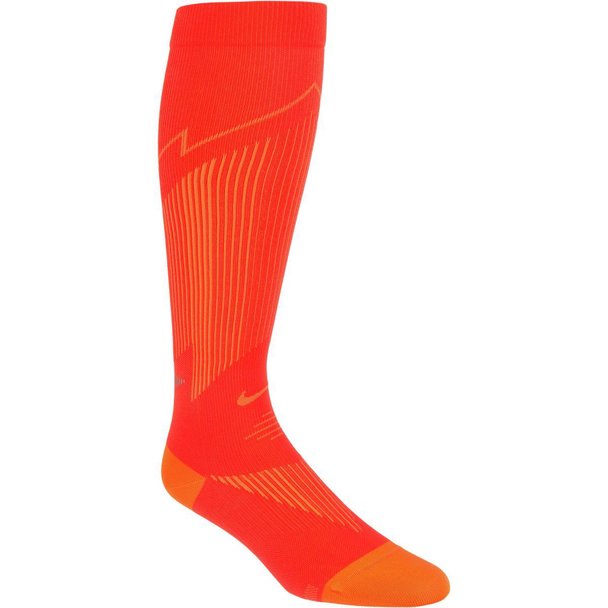 5187edfd48 Lyst - Nike Elite Run Hyper Lightweight Compression Socks in Red