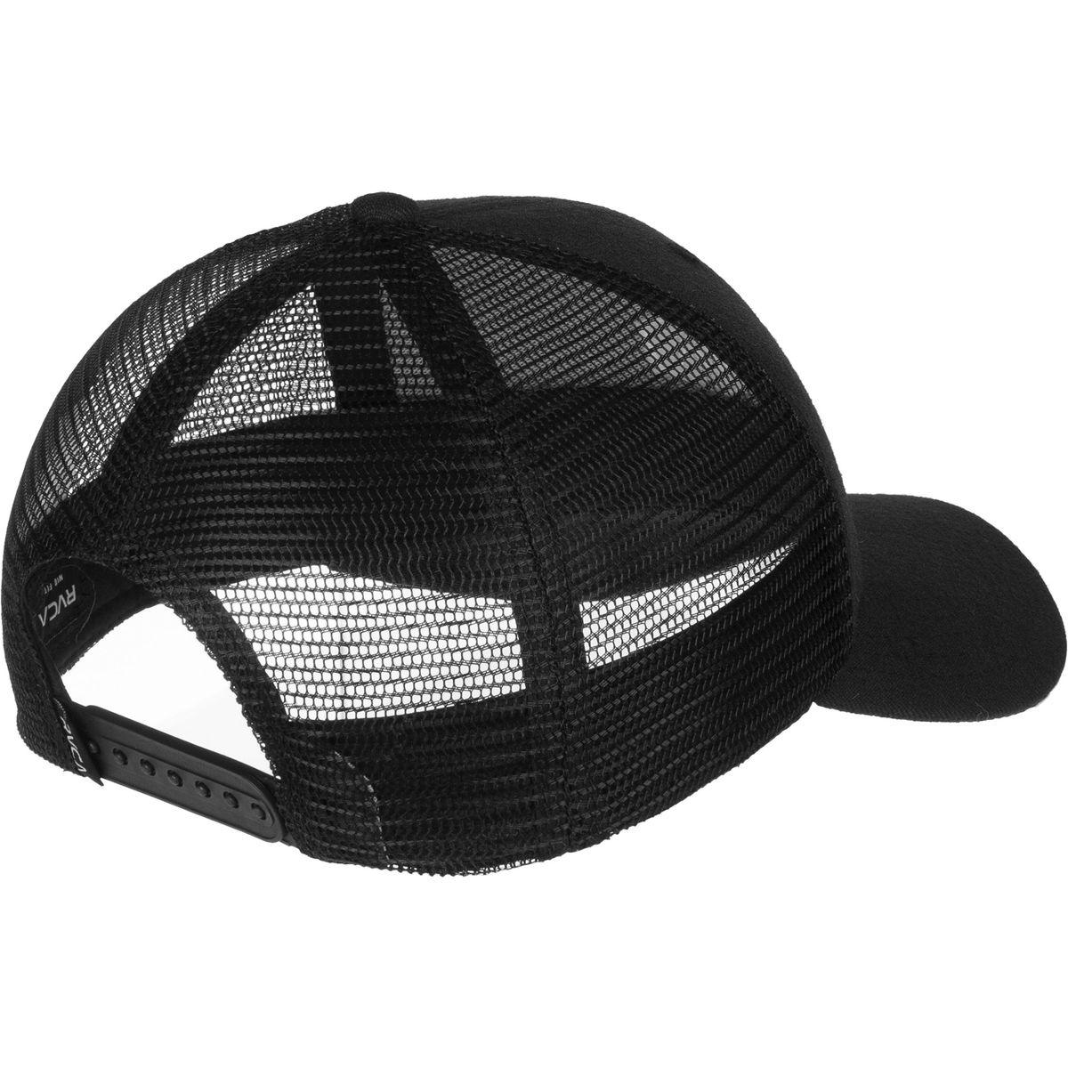 2ba5b615d812a ... clearance lyst rvca hex curve trucker hat in black for men ffa27 6ed95
