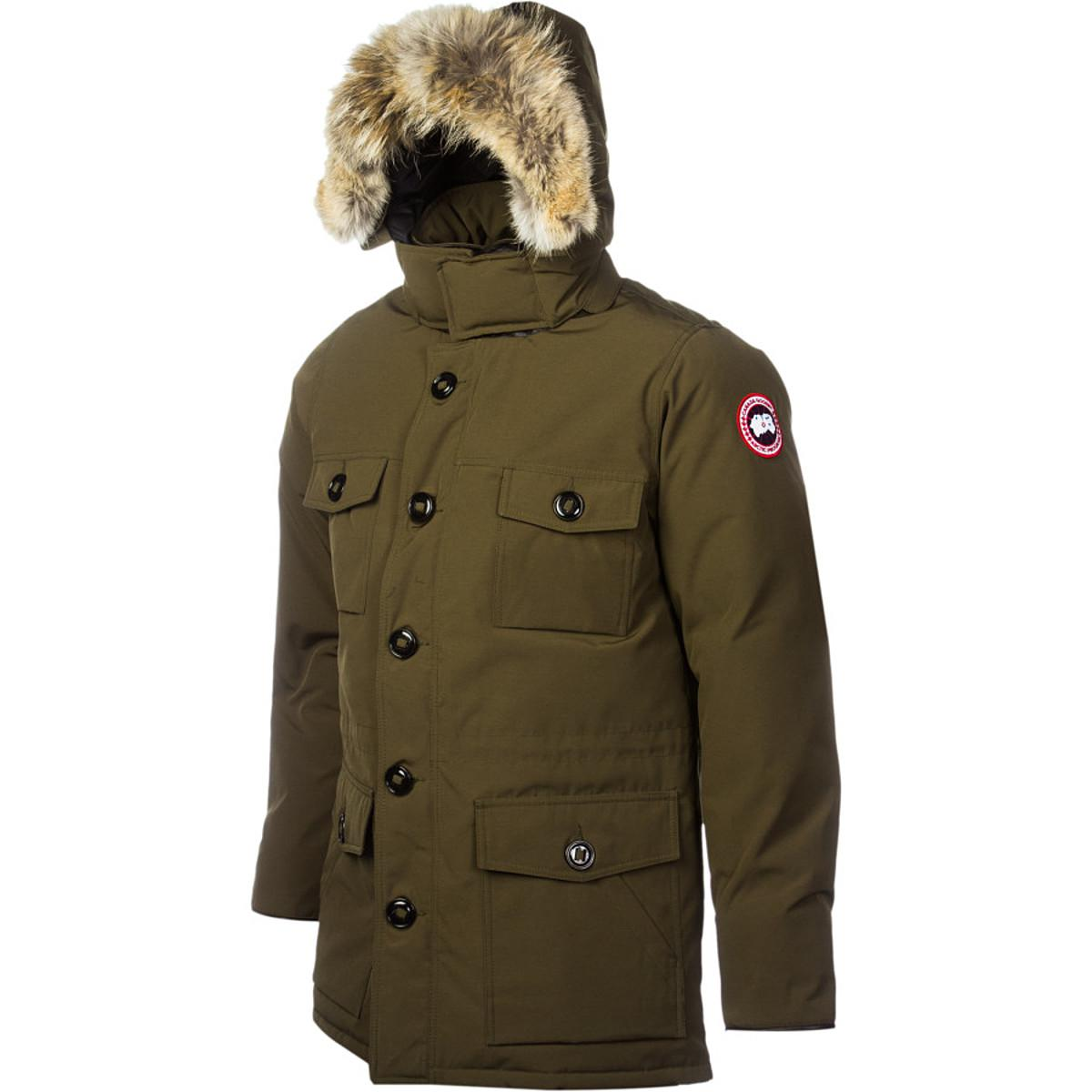 canada goose banff parka military green