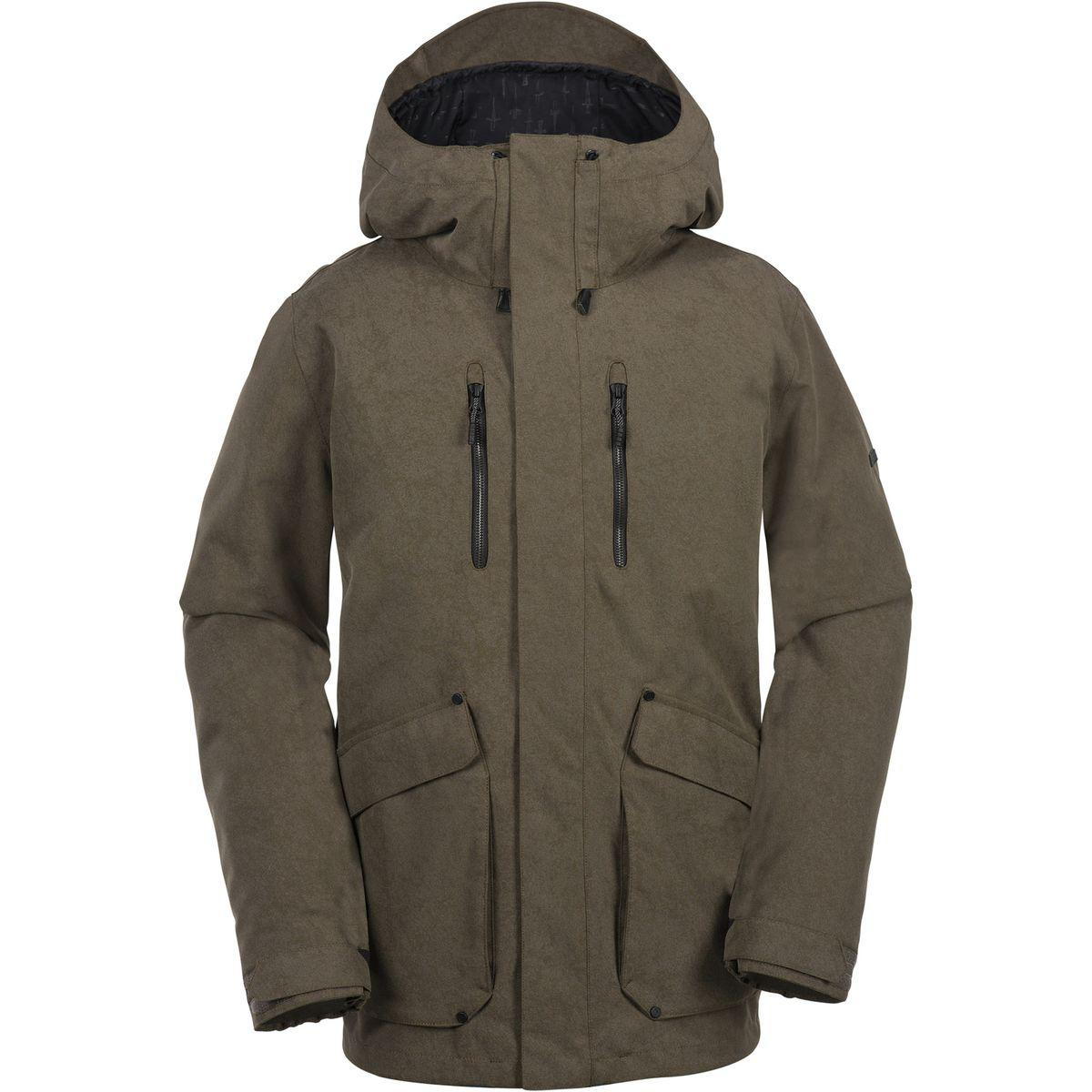 Lyst volcom pat moore insulated 3 in 1 hooded jacket in green for men volcom malvernweather Choice Image