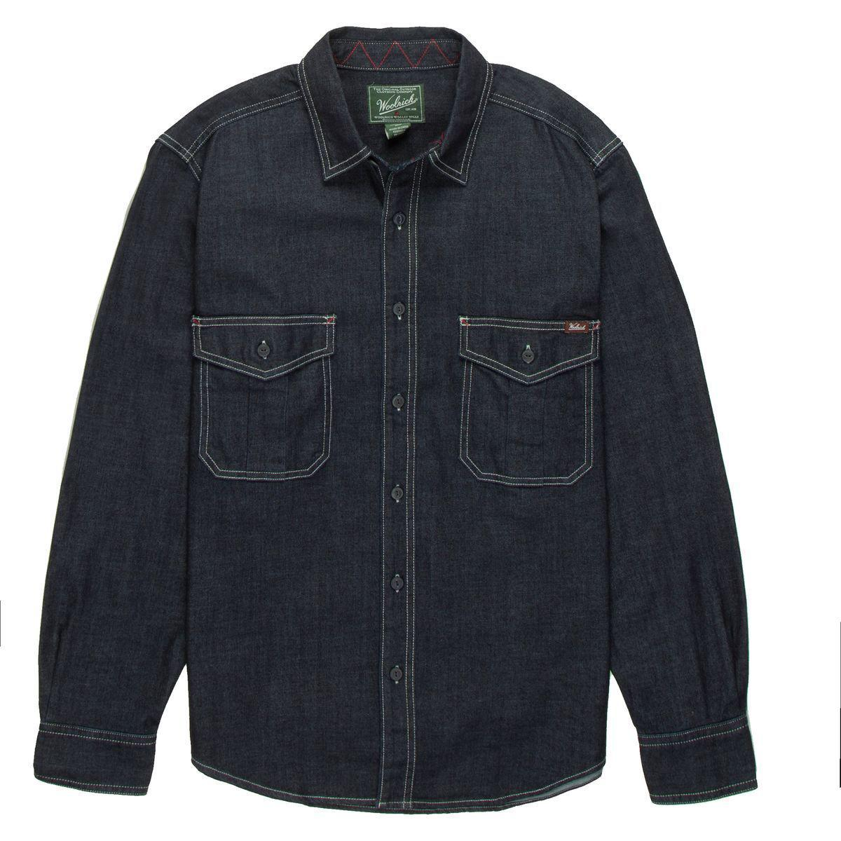 52d4c1f700 Lyst - Woolrich Hemlock Denim Shirt in Blue for Men