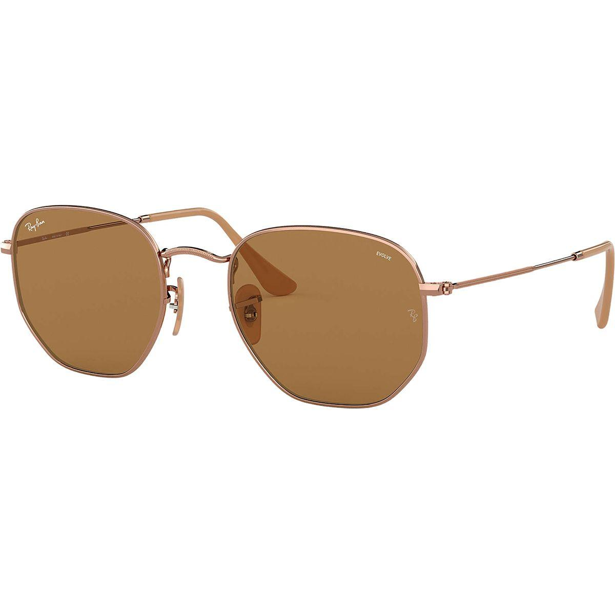 5eb02ff379d Lyst - Ray-Ban Hexagonal Evolve Photochromic Sunglasses in Brown for Men