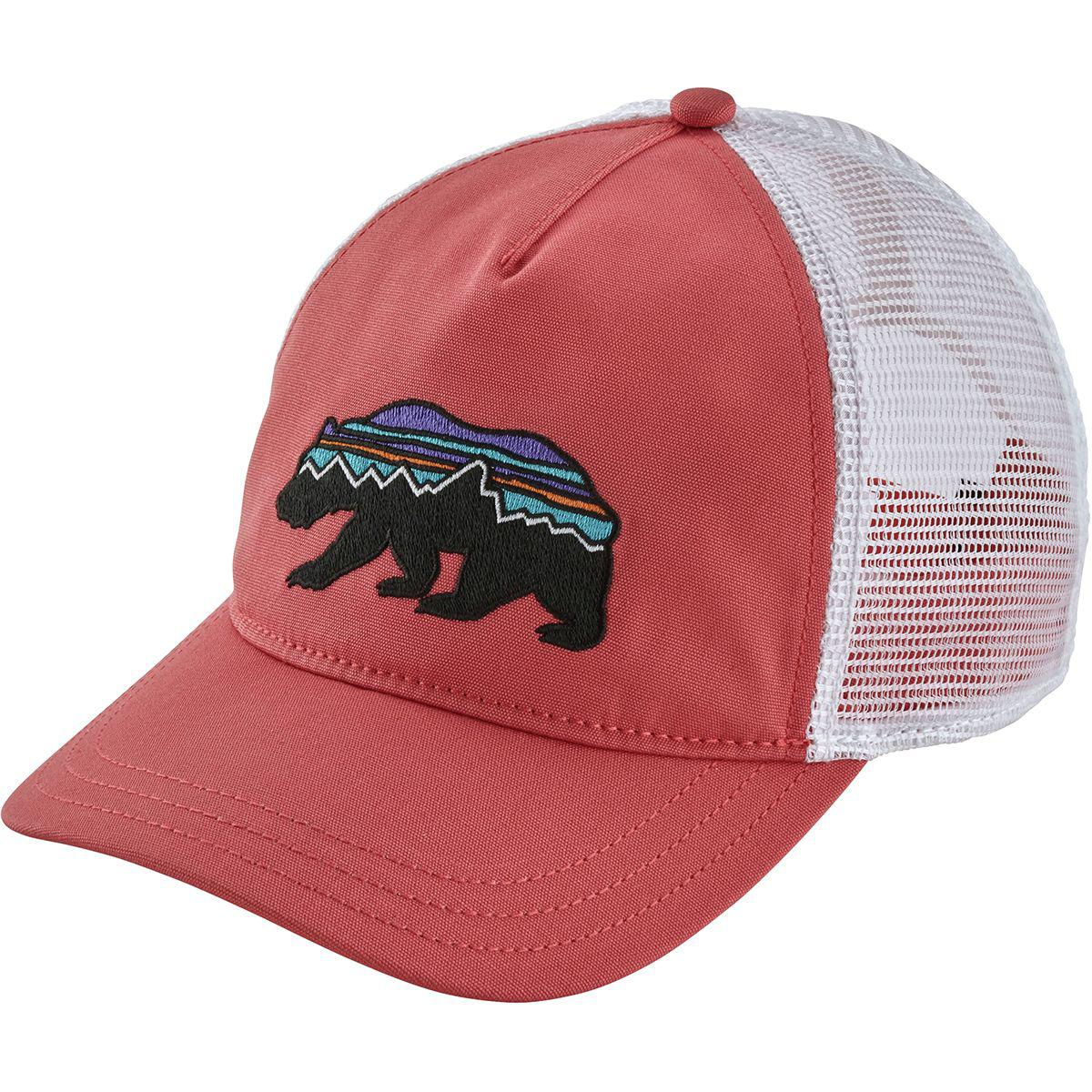 bb4cd79a624 Lyst - Patagonia Fitz Roy Bear Layback Trucker Hat in Pink