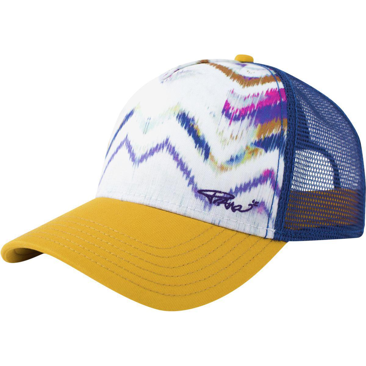 53a7bafc6d5f9 Lyst - Prana La Viva Trucker Hat in Blue for Men