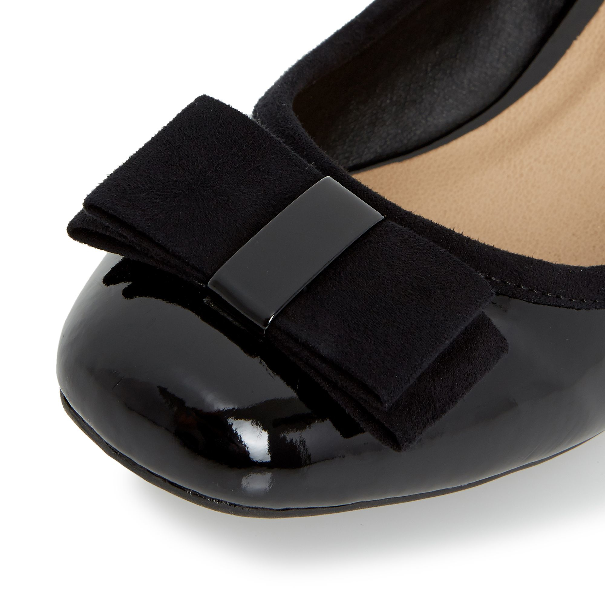 linea applecroft bow detail wedge court shoes in black lyst