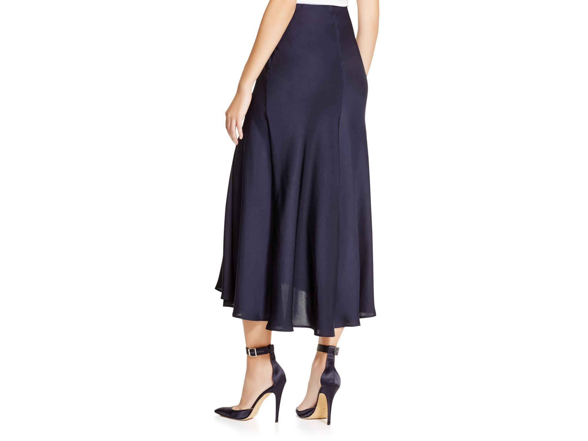 Theory Maity Silk Georgette Midi Skirt in Blue | Lyst