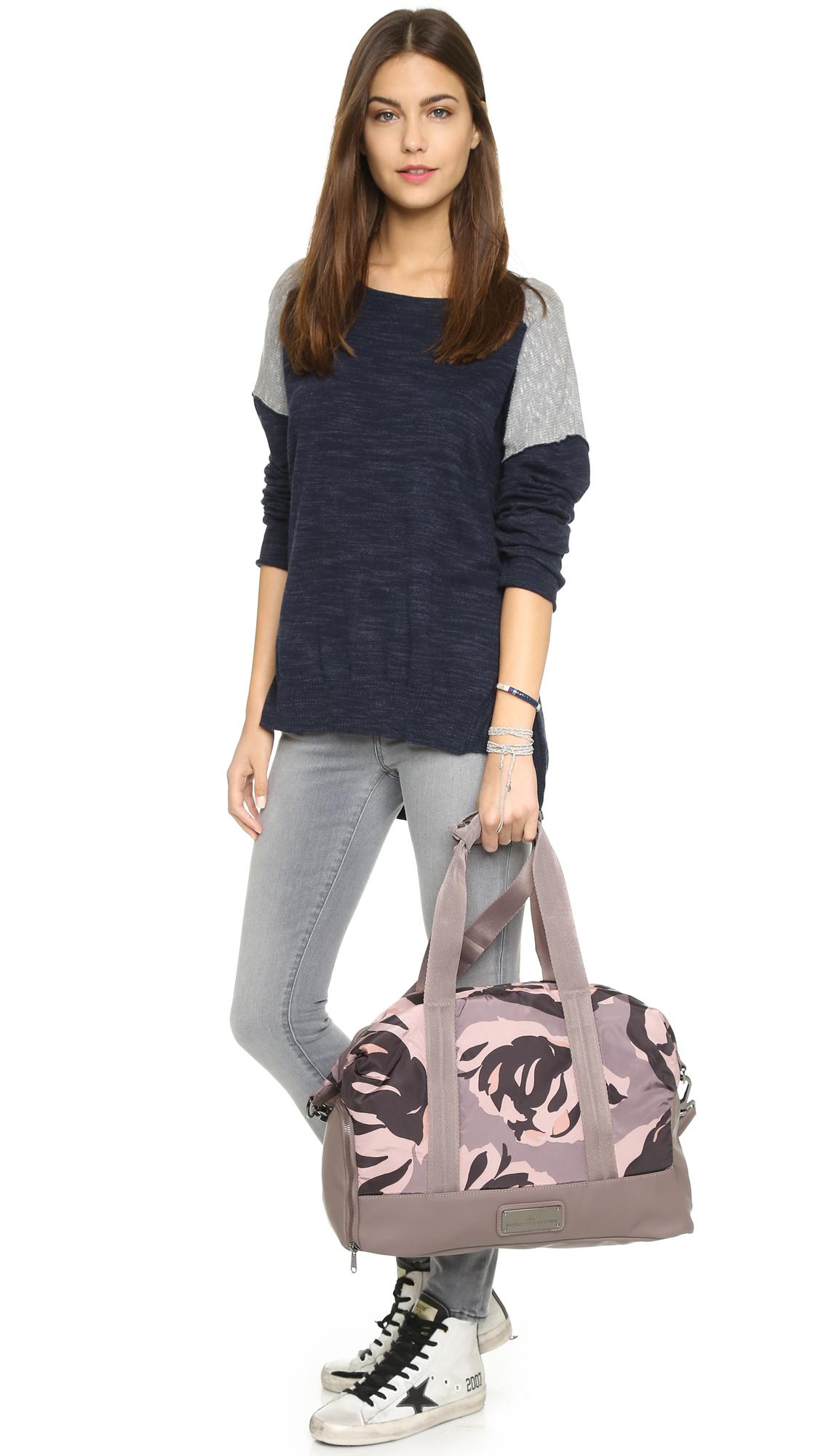 e1190aba8f59 Lyst - adidas By Stella McCartney Small Gym Bag in Gray
