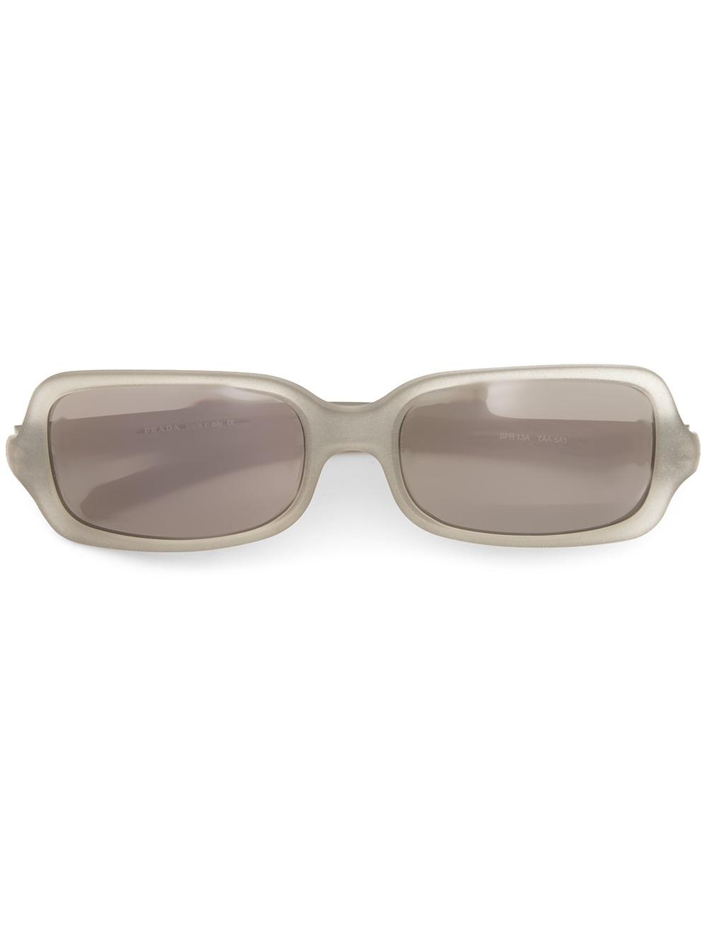 b0b9aa8722 ... good sweden lyst prada rectangular frame sunglasses in gray aa351 7a13a  f9f8b 61ac5
