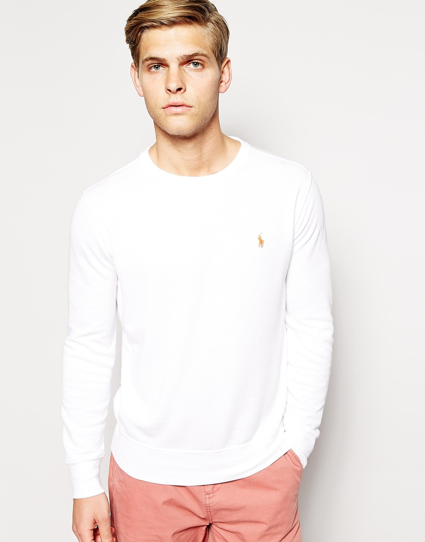 Buy Polo Ralph Lauren Men\u0026#39;s White Crew Neck Sweat, starting at $128 from ASOS US. Similar products also available. SALE now on!