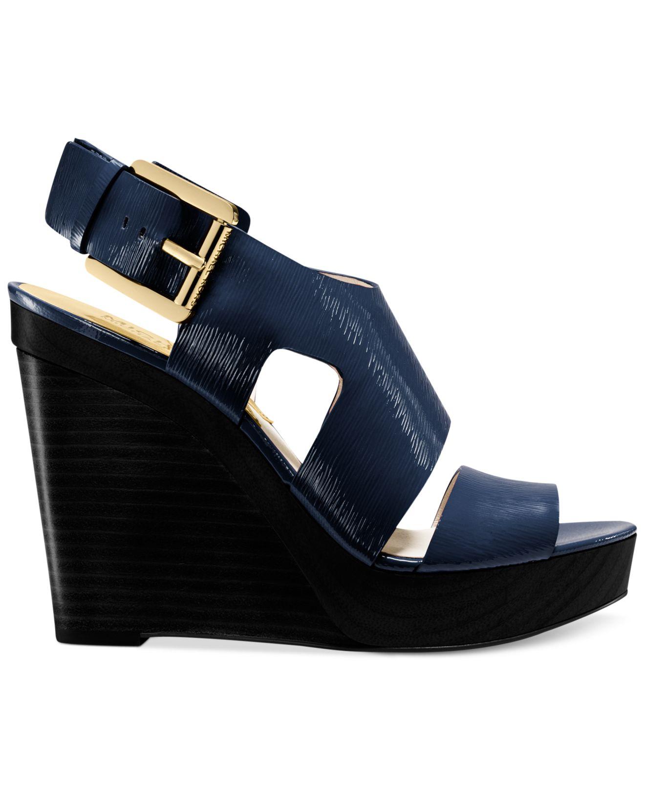 Lyst - Michael Kors Michael Carla Platform Wedge Sandals