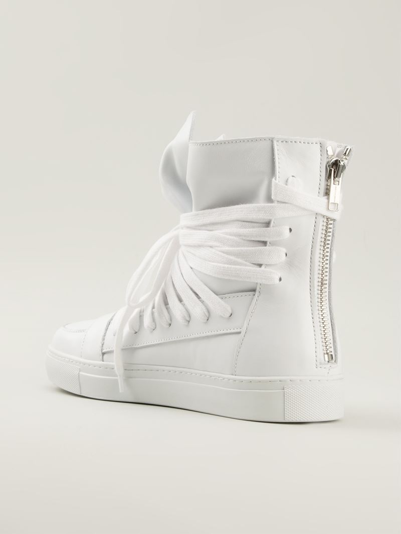 29befab87d7e19 Kris Van Assche Multi-lace Hi-top Sneakers in White for Men - Lyst