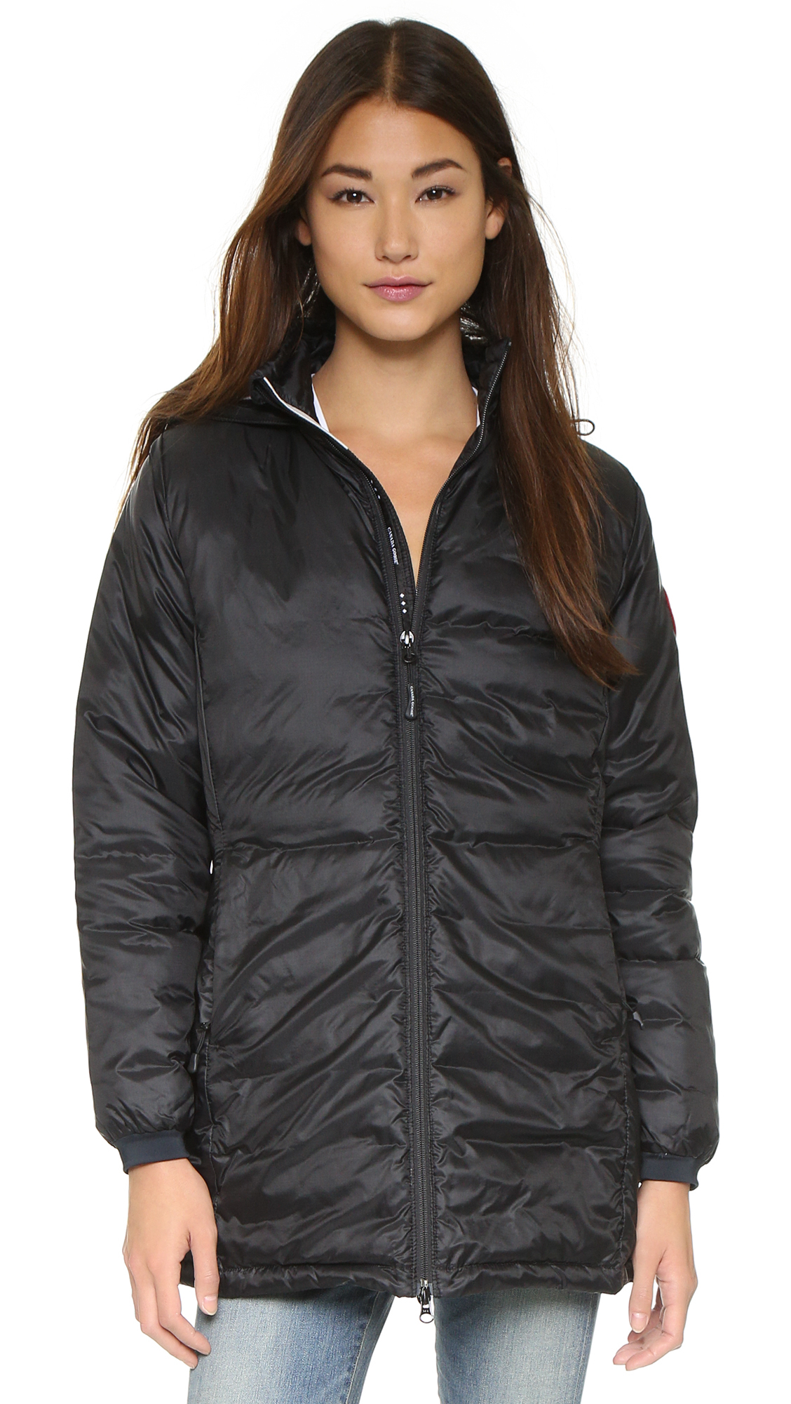 Canada Goose womens replica authentic - Canada goose Camp Hooded Jacket in Black | Lyst