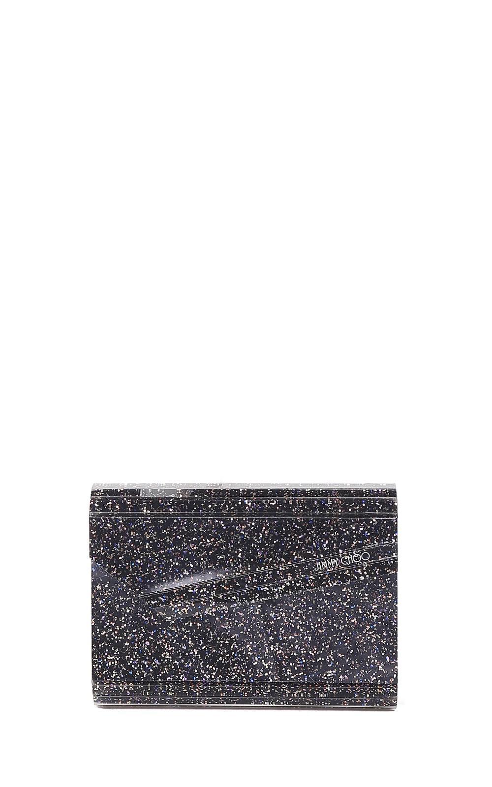 e4aa8057a0cac Lyst - Jimmy Choo Candy Glitter Acrylic Clutch in Blue
