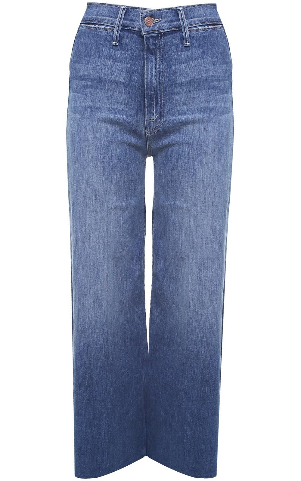 fbde21f9d58d9 Mother Swooner Crop Fray High-rise Jeans in Blue - Lyst