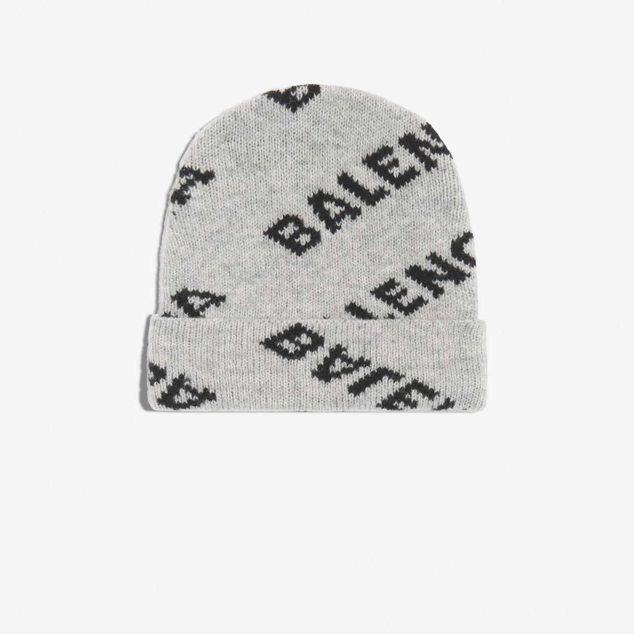520eb7c3 Balenciaga Jacquard Logo Beanie for Men - Lyst