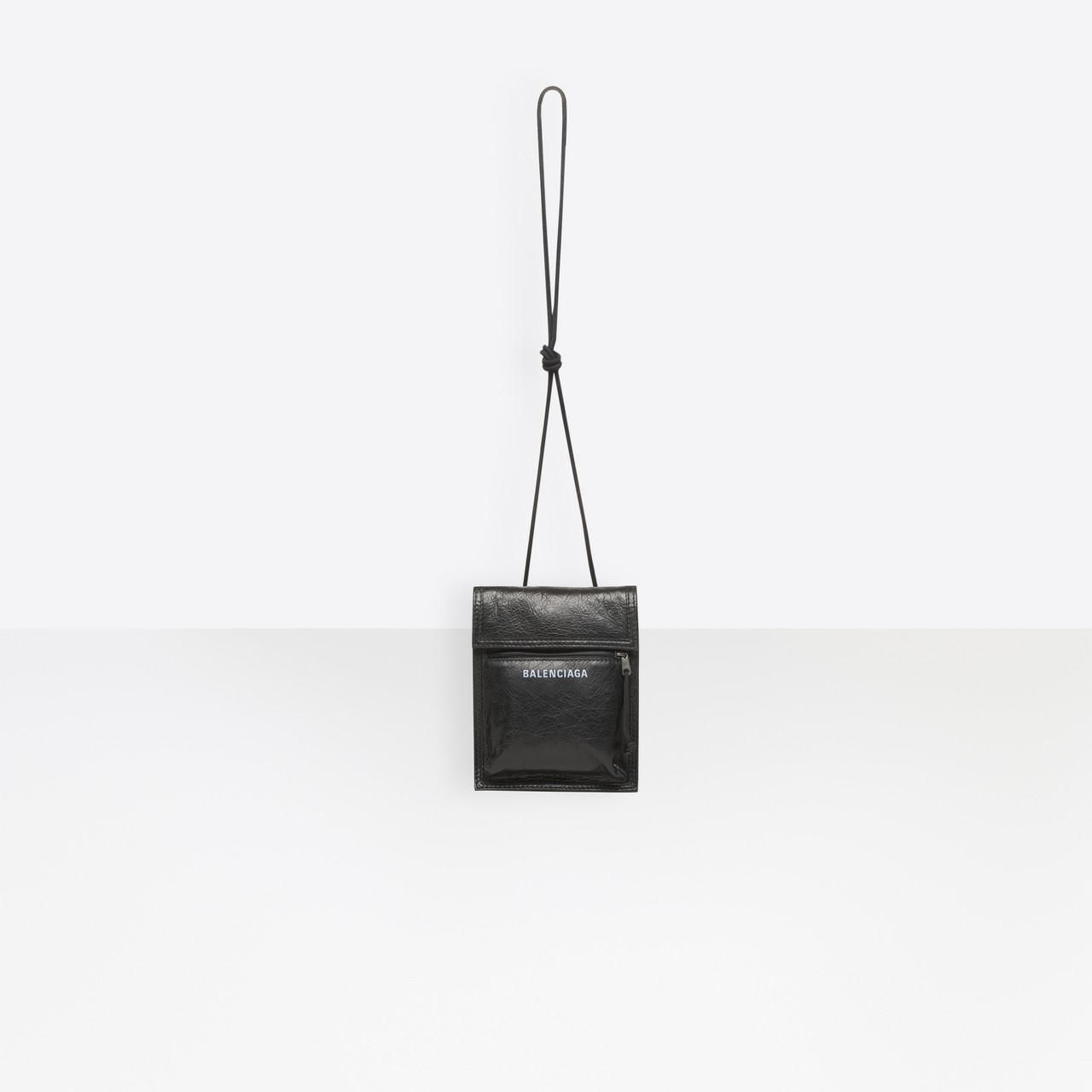 3655a2c397 Balenciaga - Black Explorer Pouch Strap for Men - Lyst. View fullscreen