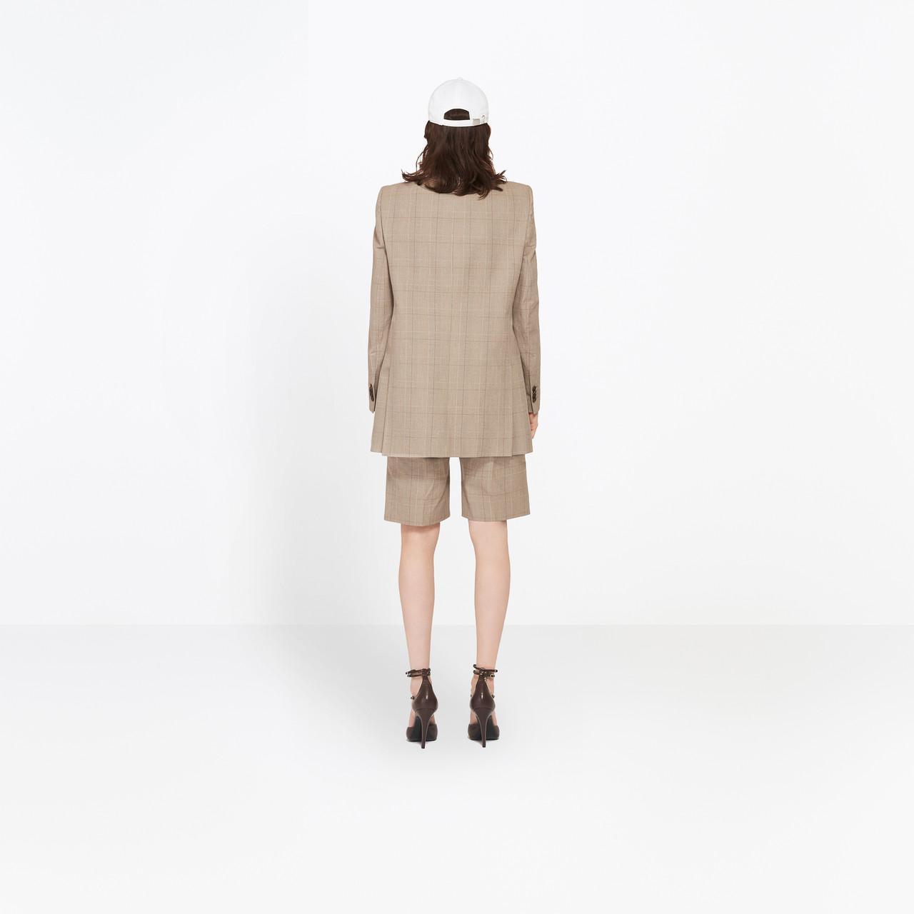 Lyst Balenciaga Couture Shoulders Blazer In Natural