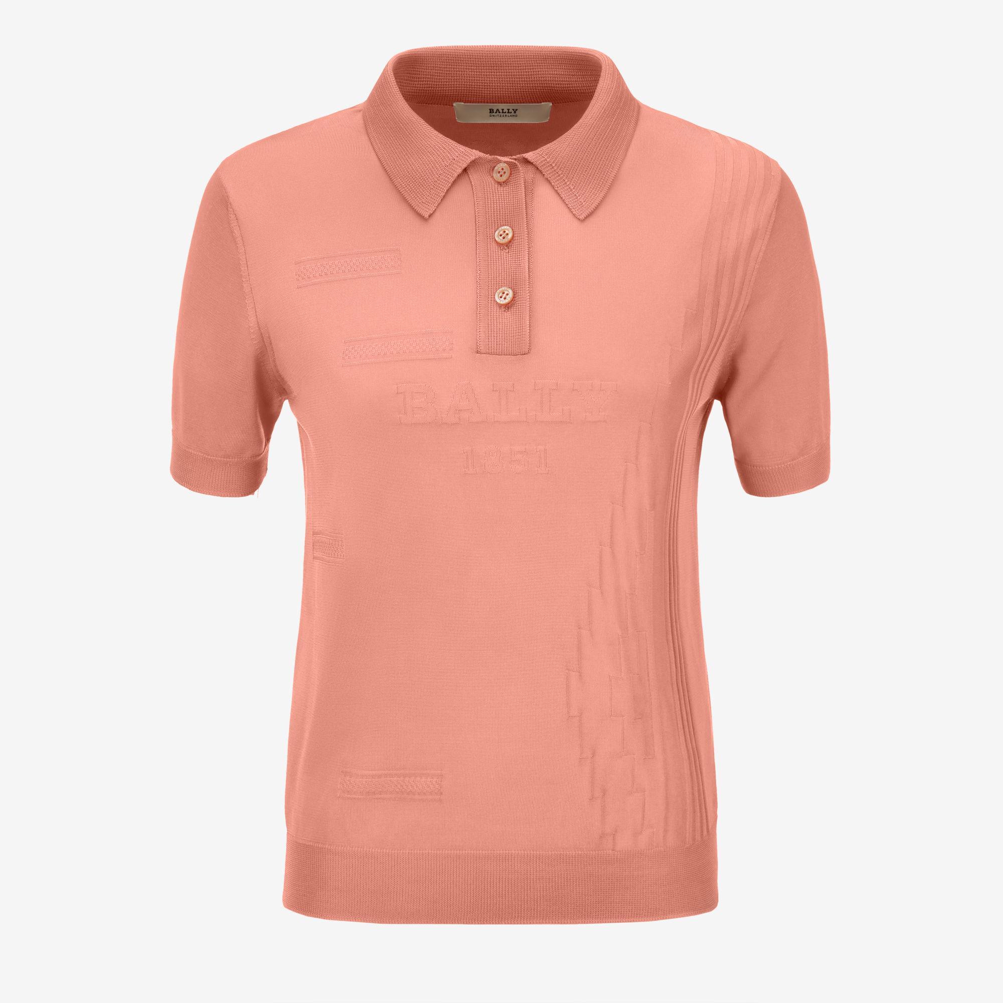 1f1e3b3c Bally - Pink Viscose Knit Polo Shirt for Men - Lyst. View fullscreen