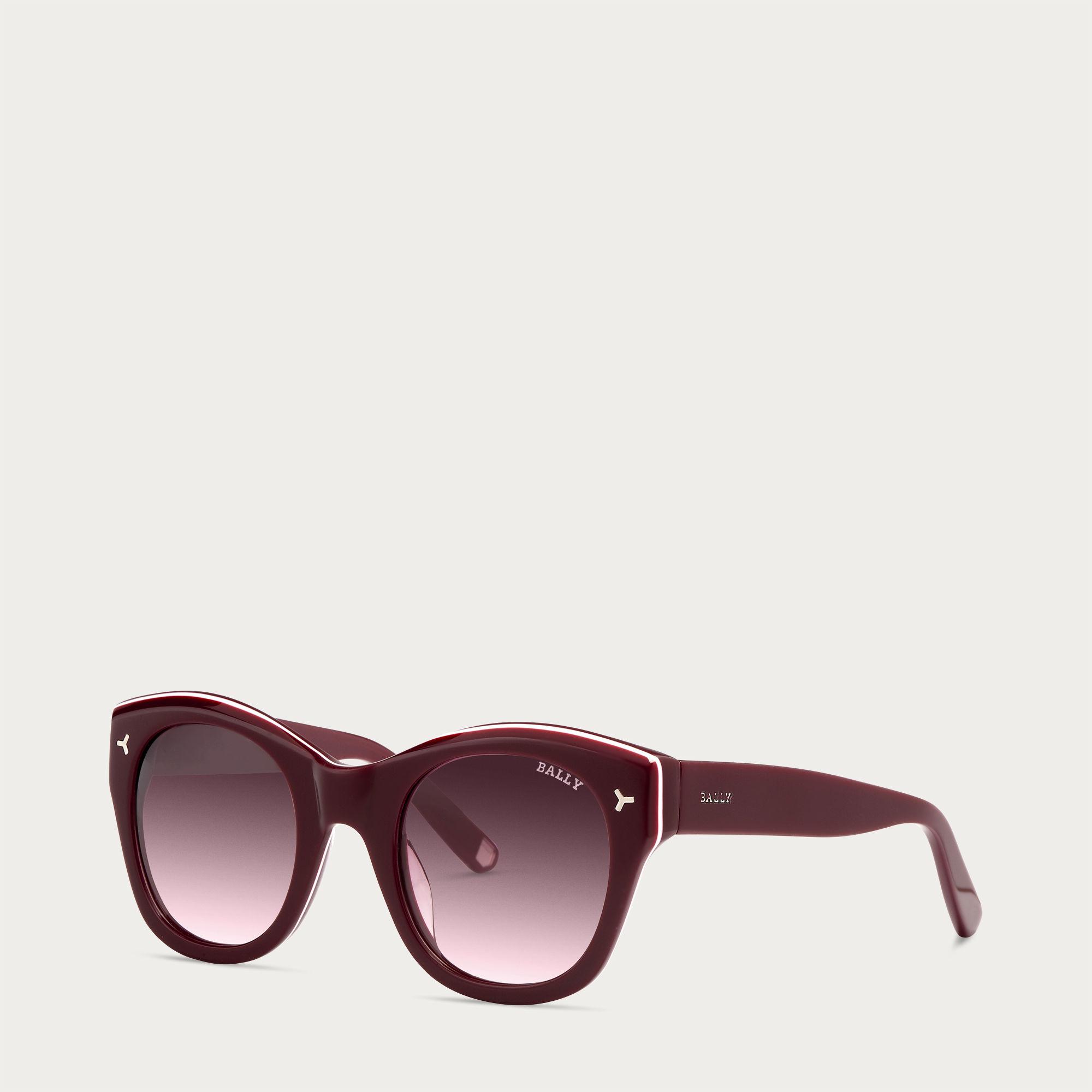 fa22053f0a Lyst - Bally Round Sunglasses Women ́s Burgundy Acetate Sunglasses ...