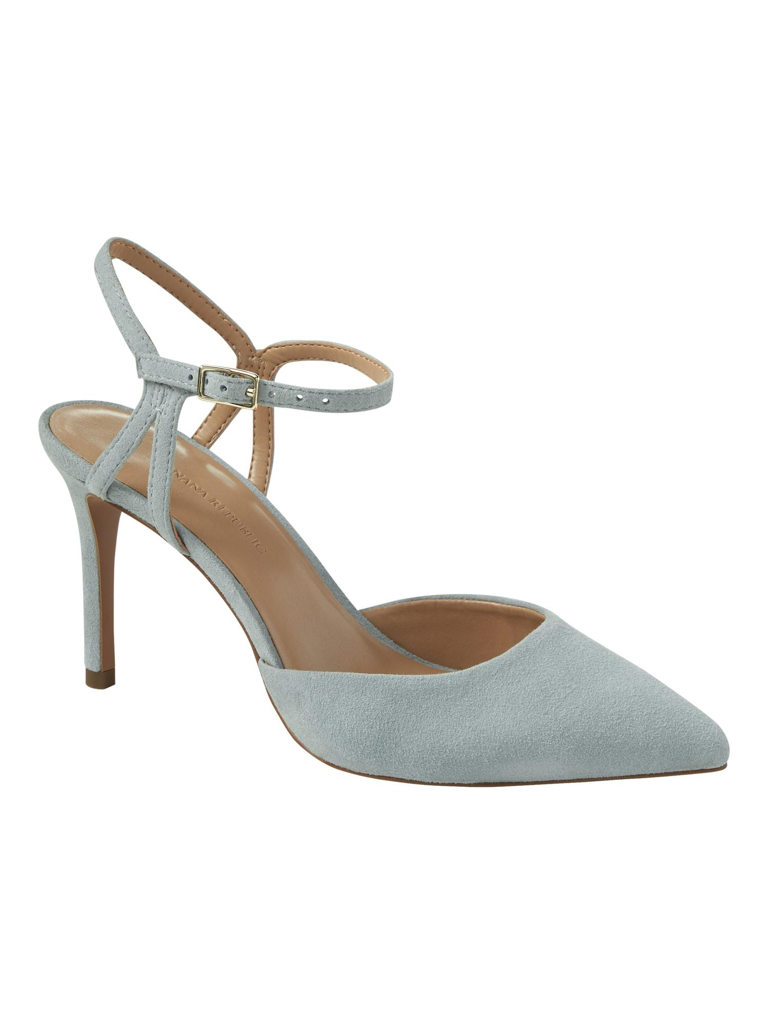 660ed9e94b40 Lyst - Banana Republic Madison 12-hour Side Cut-out Pump in Blue