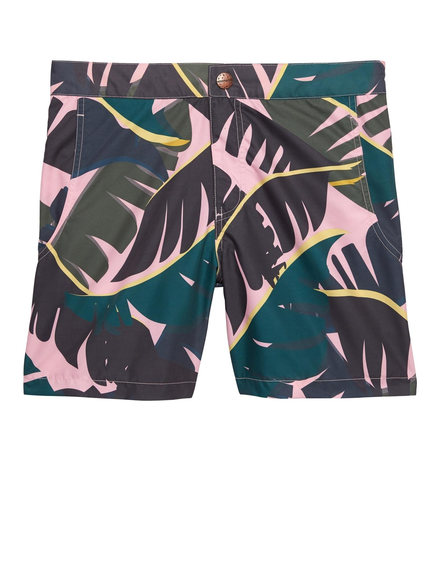 d71308c58ef86 Banana Republic Palm Tropical Camo Swim Short in Pink for Men - Lyst