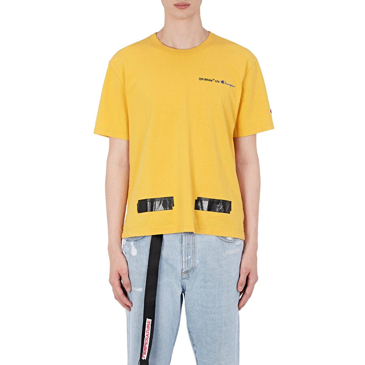 cf2457c6 Off-White c/o Virgil Abloh Champion Cotton T in Yellow for Men - Lyst