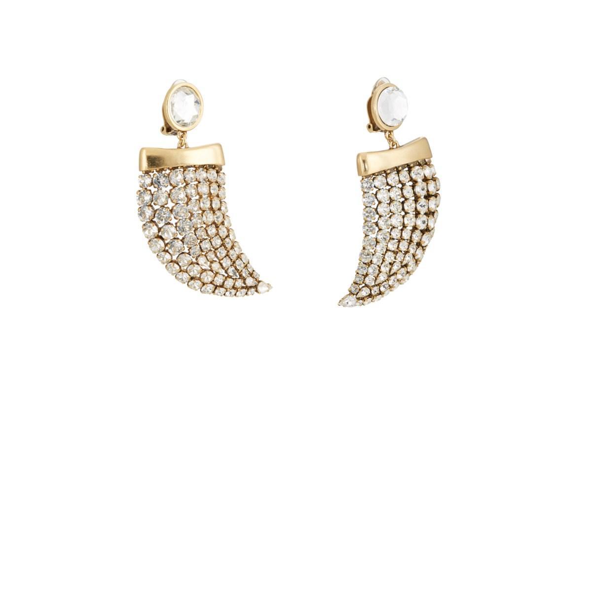 17f6000dd8 Saint Laurent Smoking Horn Drop Earrings in Metallic - Lyst