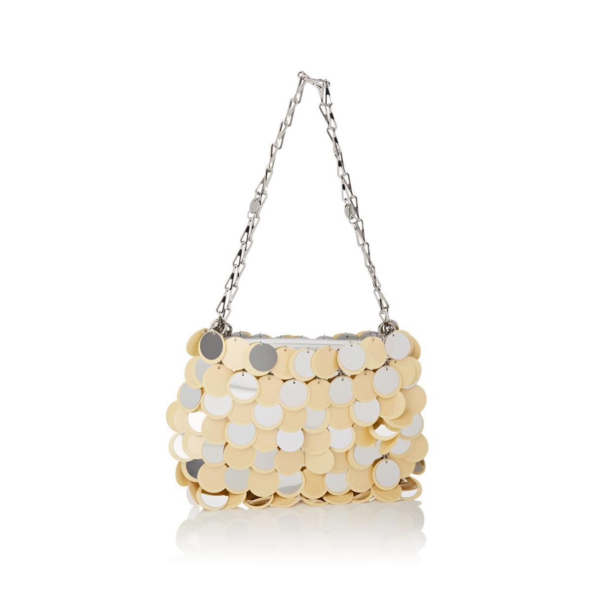1c860c82f11f Lyst - Paco Rabanne Iconic Sparkle Shoulder Bag in Metallic