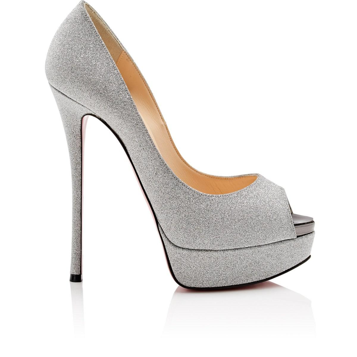 ddeded3efc42 Christian Louboutin. Women s Metallic Fetish Glitter Platform Court Shoes