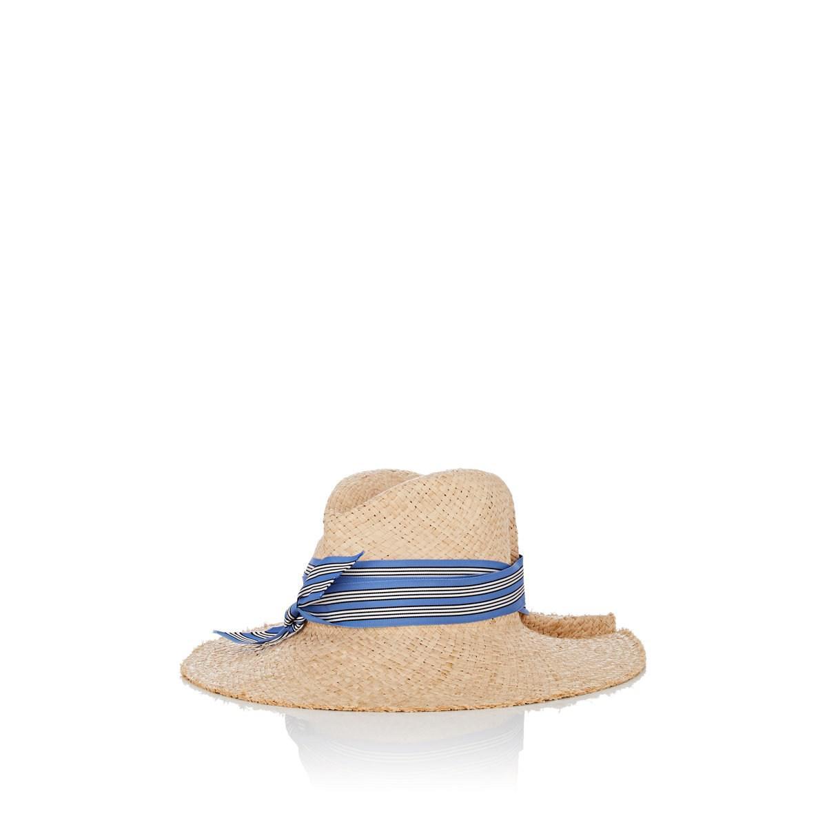 6da82a3988c Lyst - Lola Hats First Aid Raffia Fedora in Blue