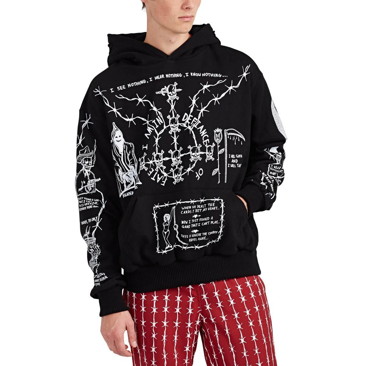 c27d6fd98c3 Warren Lotas Oversized Sabata Sweatshirt Hoodie in Black for Men ...