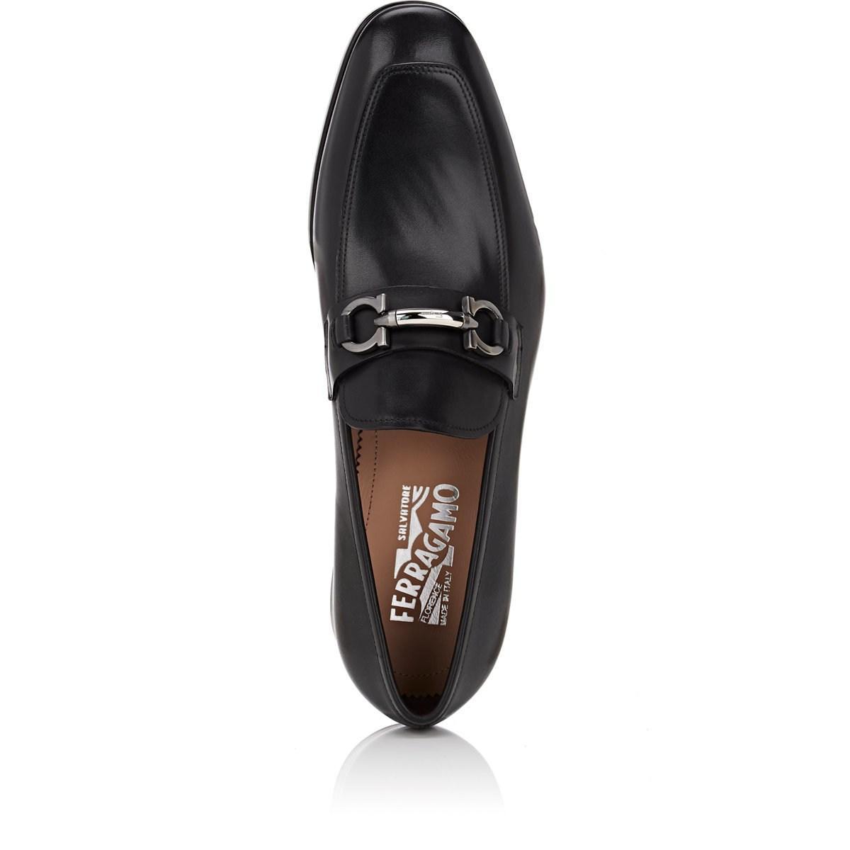 3ff4ea0bcb22 Ferragamo - Black Benford Leather Loafers for Men - Lyst. View fullscreen