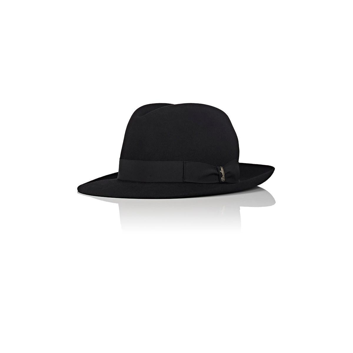 d2ee77441c852 Lyst - Borsalino Marengo Large-brim Fur Felt Fedora in Black for Men