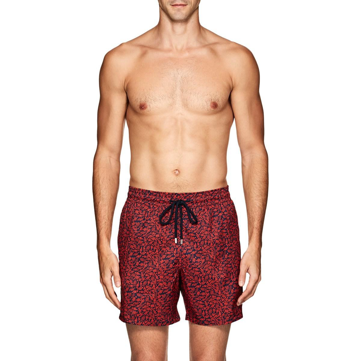eb71df3d95 Lyst - Vilebrequin Mahina Fish-print Swim Trunks in Blue for Men