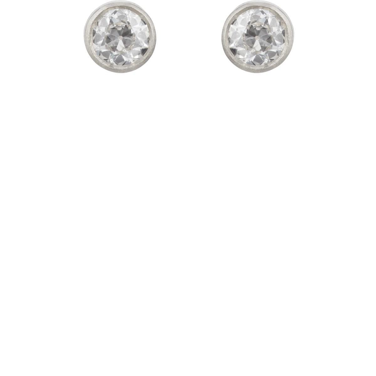 Womens Princess-Cut Diamond Stud Earrings Malcolm Betts 4g4KWJ