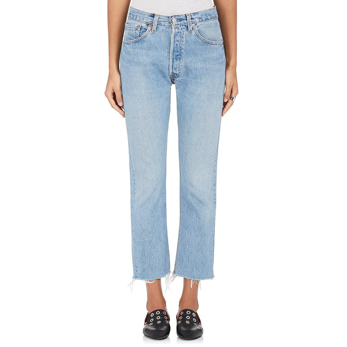 93841f23cdc81 RE DONE High Rise Crop Flare Levi s® Jeans in Blue - Lyst