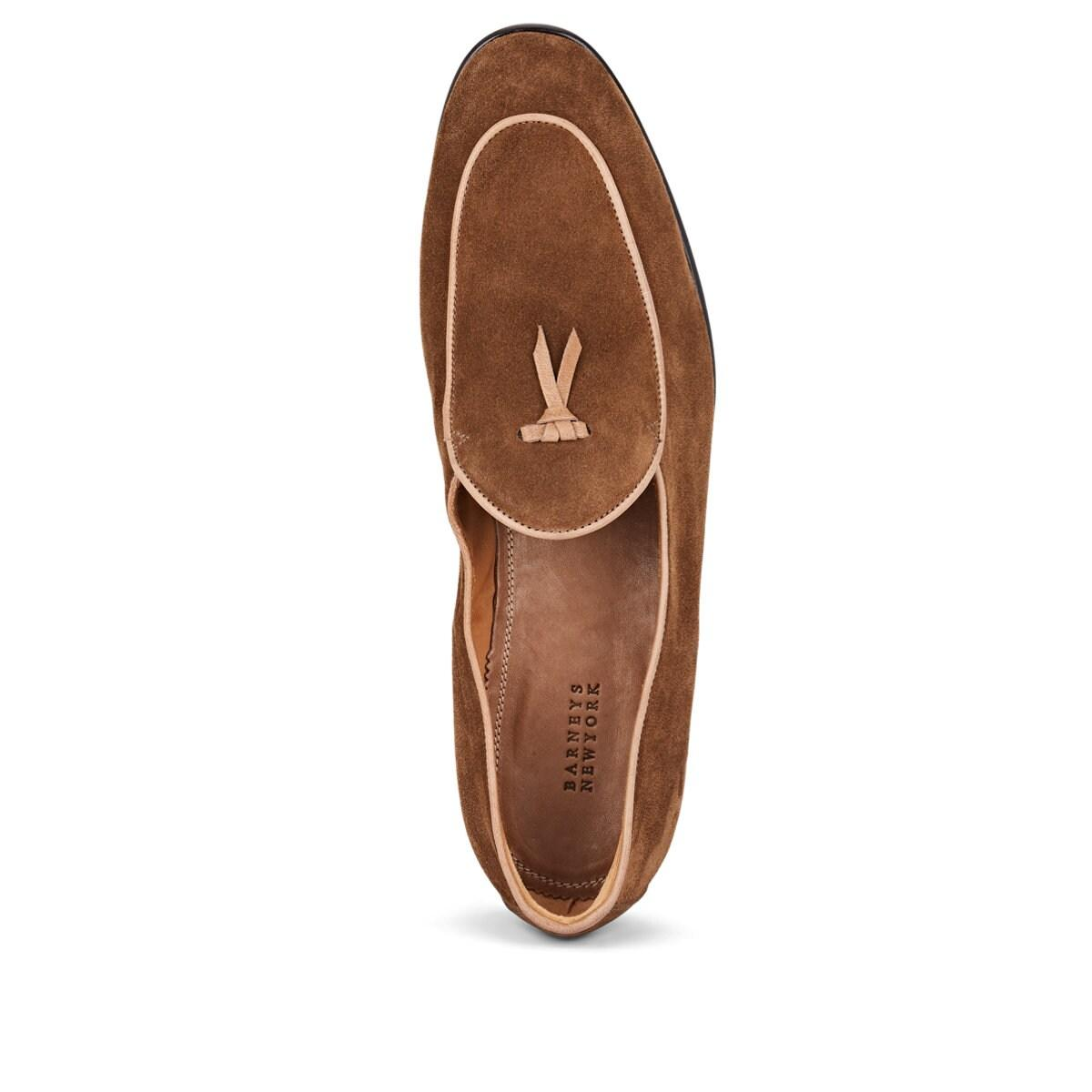 430af3c8a1350 Barneys New York - Brown Suede Belgian Loafers for Men - Lyst. View  fullscreen