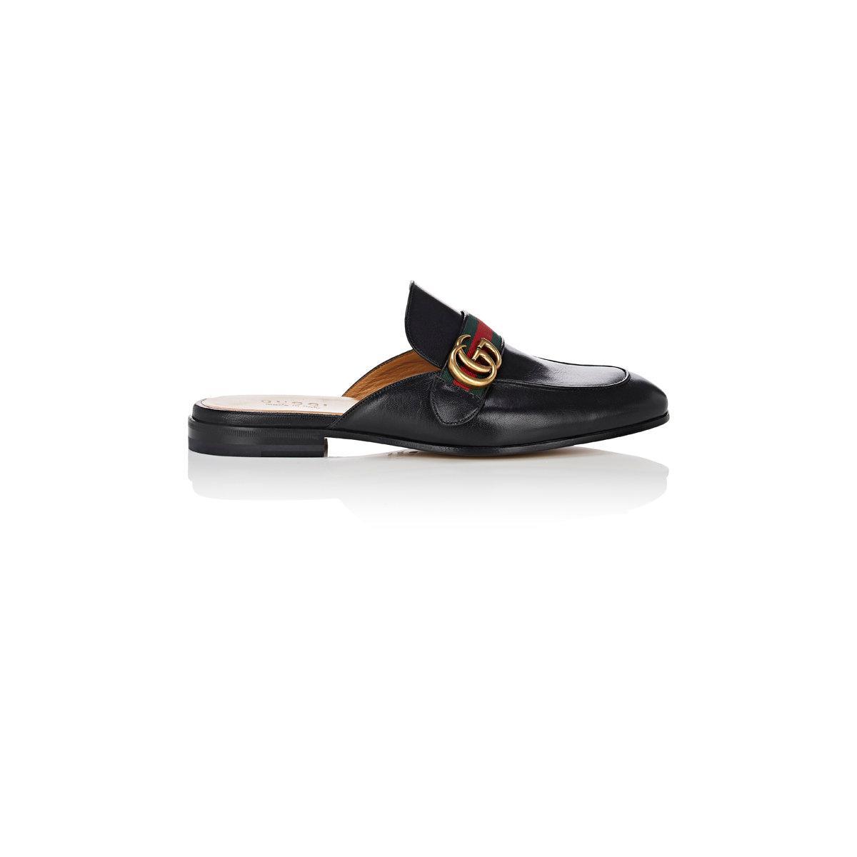 Kings Horsebit Leather Backless Loafers Gucci 1KsuHki