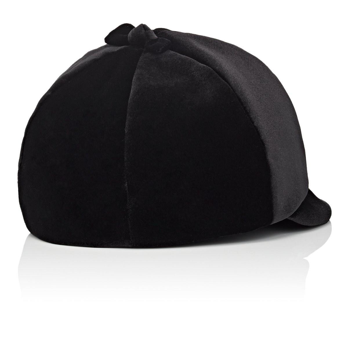 5ca509d68 Jennifer Ouellette Velvet Baseball Cap in Black - Lyst