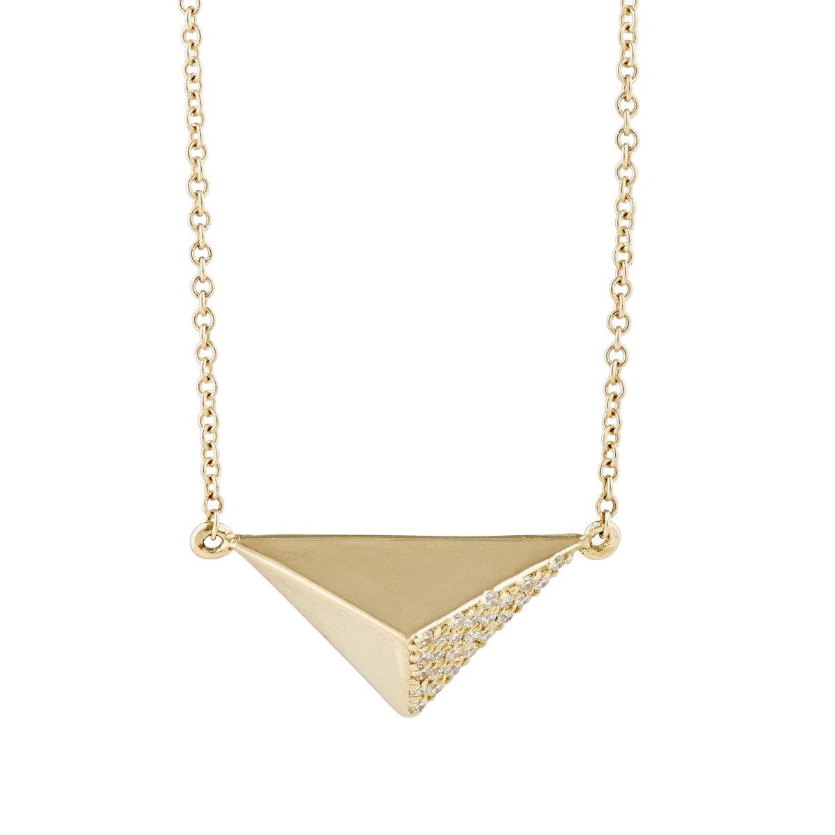 ileana makri pyramid pendant necklace in metallic save 2