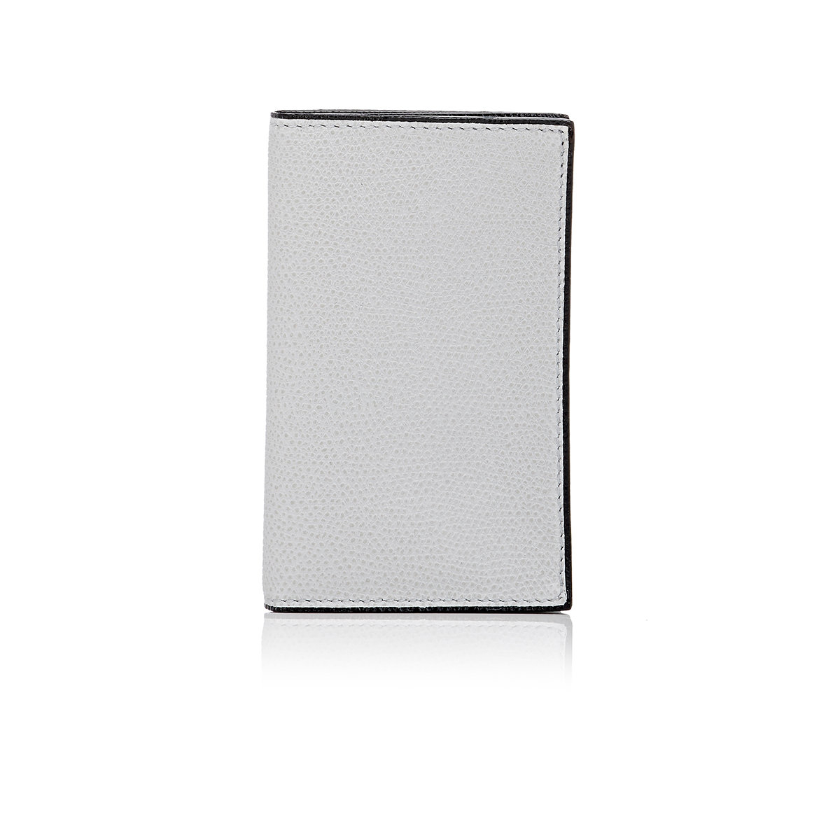 Valextra Folding Business Card Case in Gray for Men