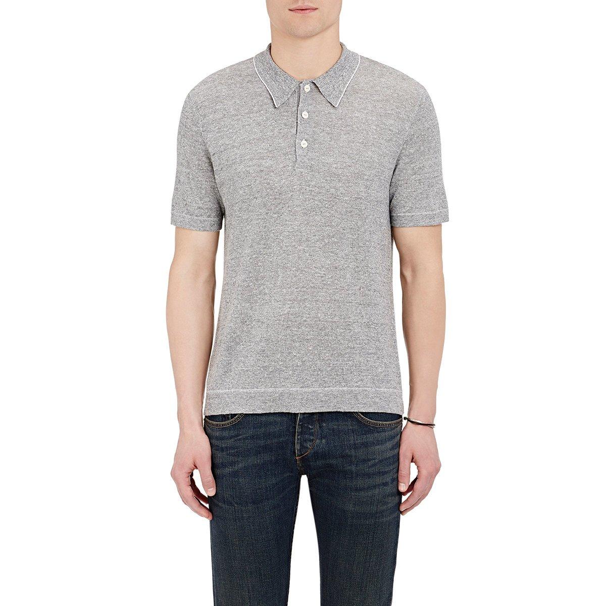Rag Bone Men 39 S Harding Polo Shirt In Gray For Men Lyst